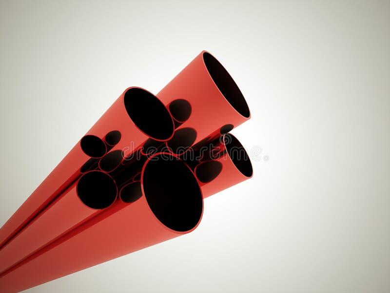 Red tubes stock illustration