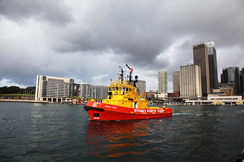 Red Tug boat in Sydney Harbour