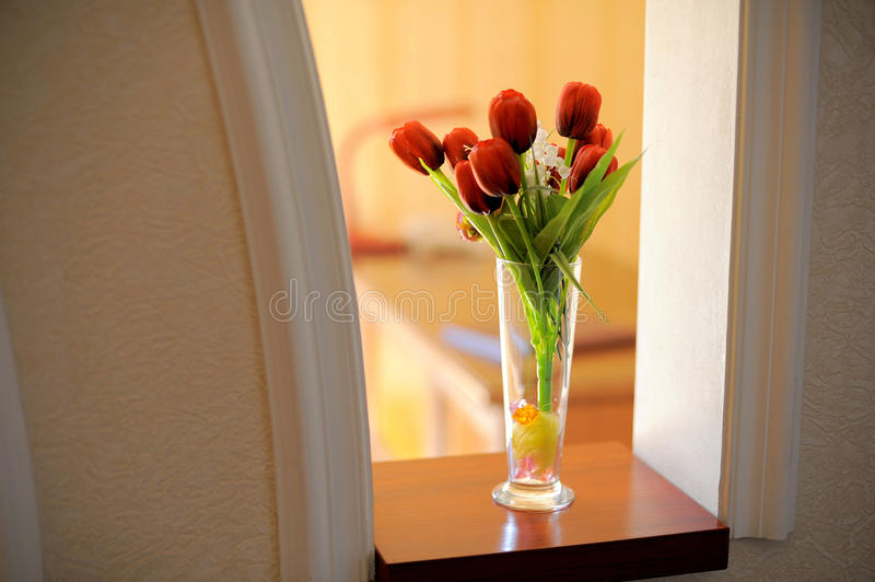 Download Red Tulips stock image. Image of color, room, nature - 30498209