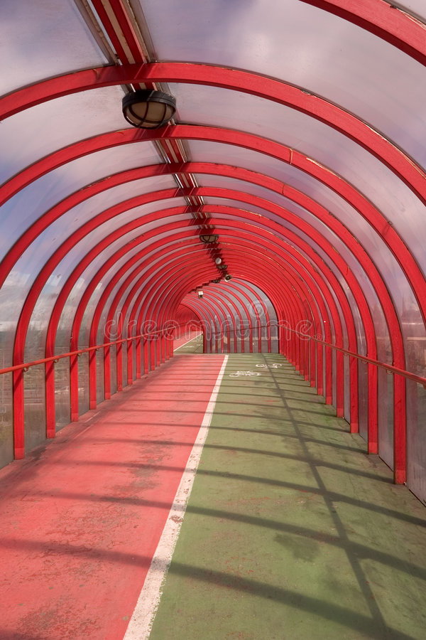 Download Red Tunnel 1 stock image. Image of cyclist, tunnel, track - 114319