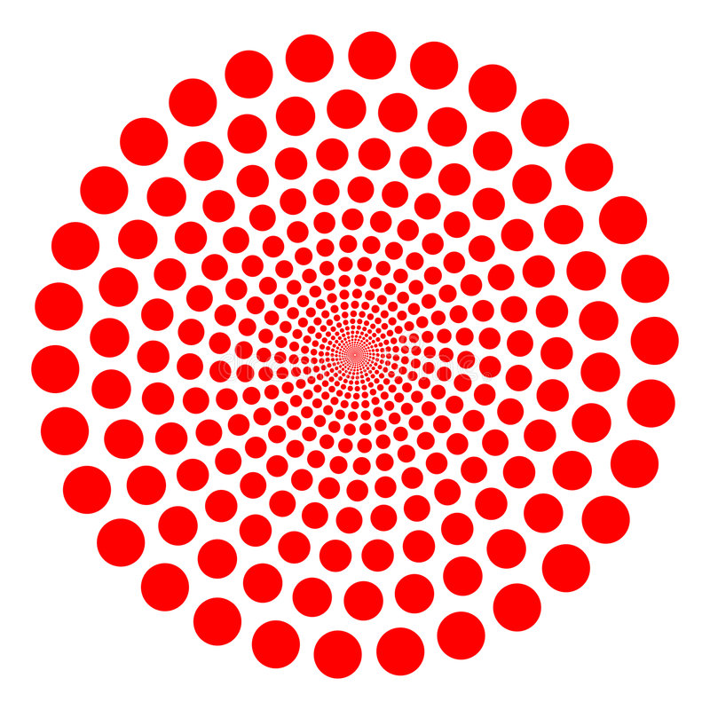 Red twirl. Red vector dotted tunnel twirl vector illustration