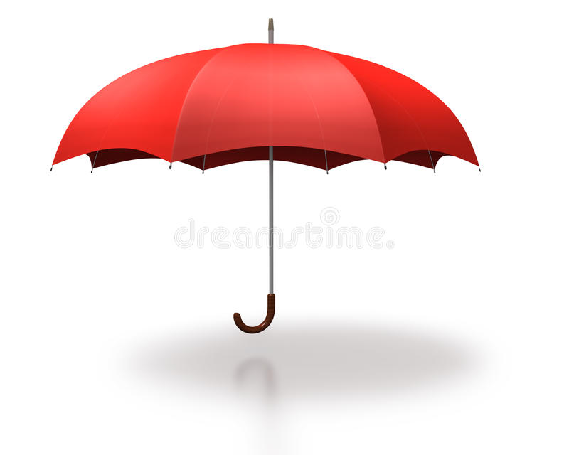 Red umbella on a white background stock image