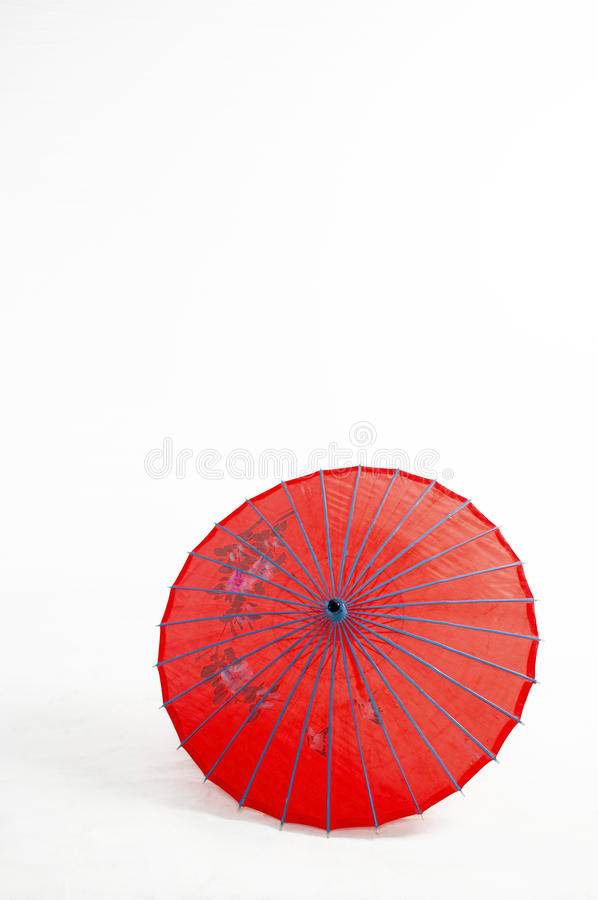 Red Umbrella. In the background royalty free stock image