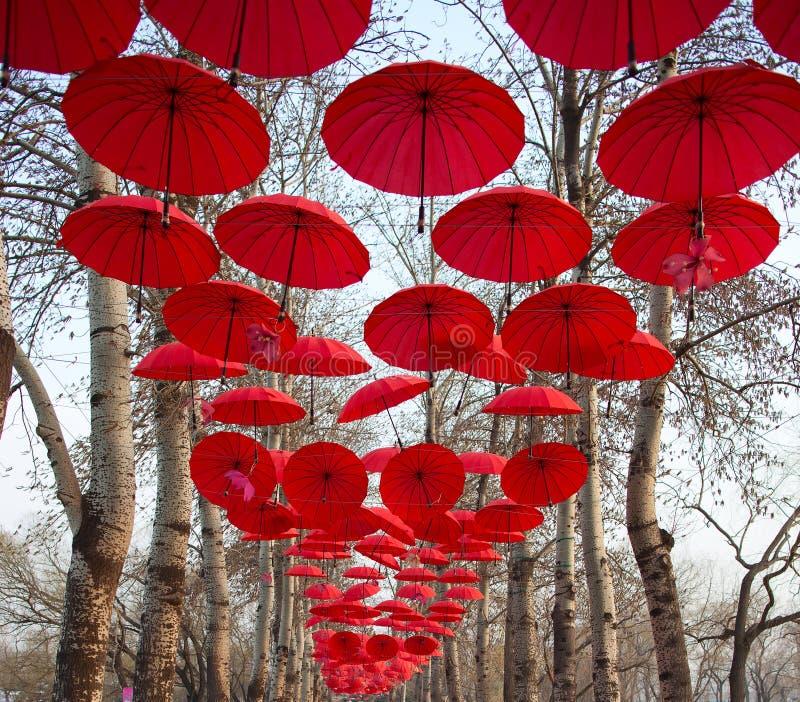 Red Umbrella stock photography