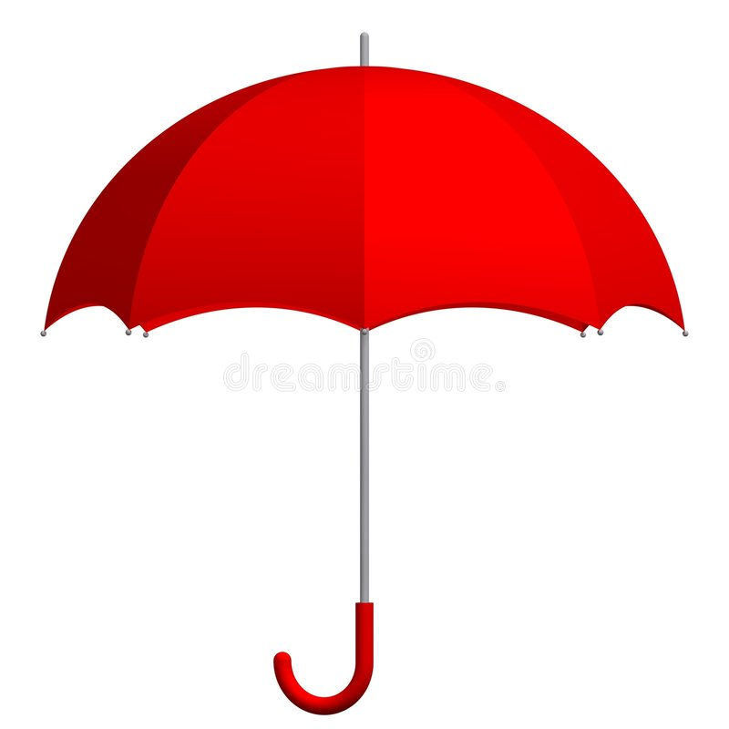 Download Red Umbrella stock illustration. Illustration of nature - 4124785