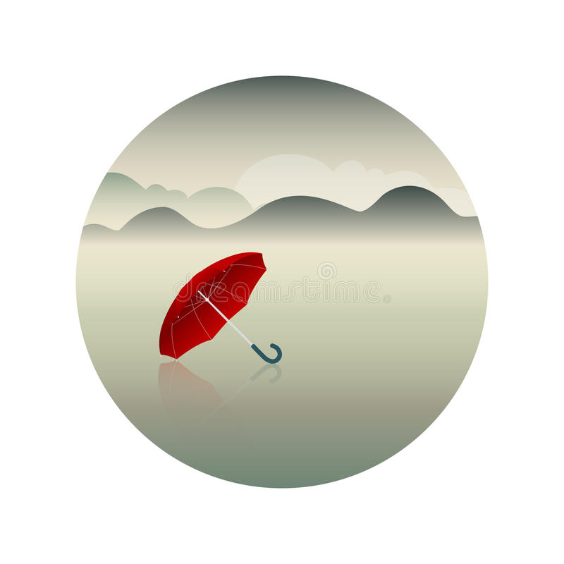 Free Red Umbrella And Rainy Day Background Royalty Free Stock Photos - 78319308