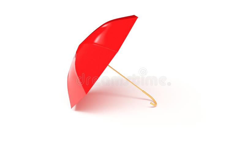 Red umbrella concept rendered isolated 3d render.  stock illustration