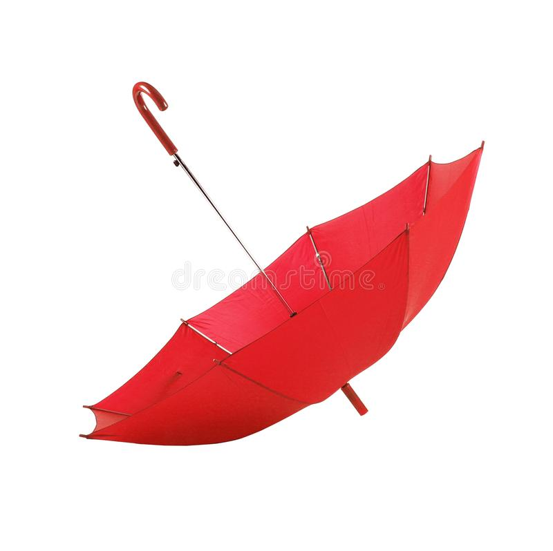 red umbrella in white background stock photography