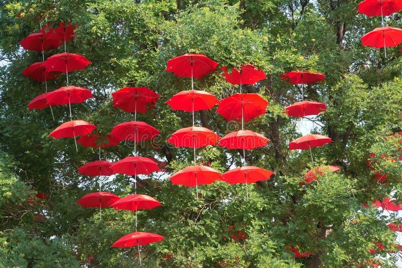 Download Red umbrellas stock image. Image of ornamental, ornament - 25657045