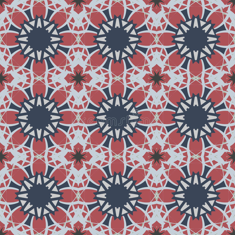 Red universal vector seamless patterns, tiling. Geometric ornaments. Endless texture can be used for wallpaper, pattern fills, web page background,surface royalty free illustration