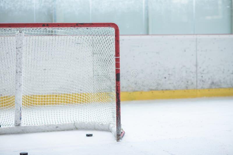 Red vacía del hockey sobre hielo fotografía de archivo