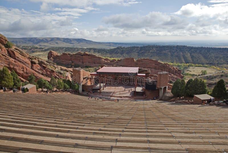Red vaggar amphitheateren arkivbilder