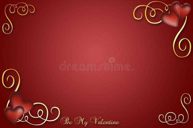 Download Red Valentine stock illustration. Image of swirls, love - 12331228