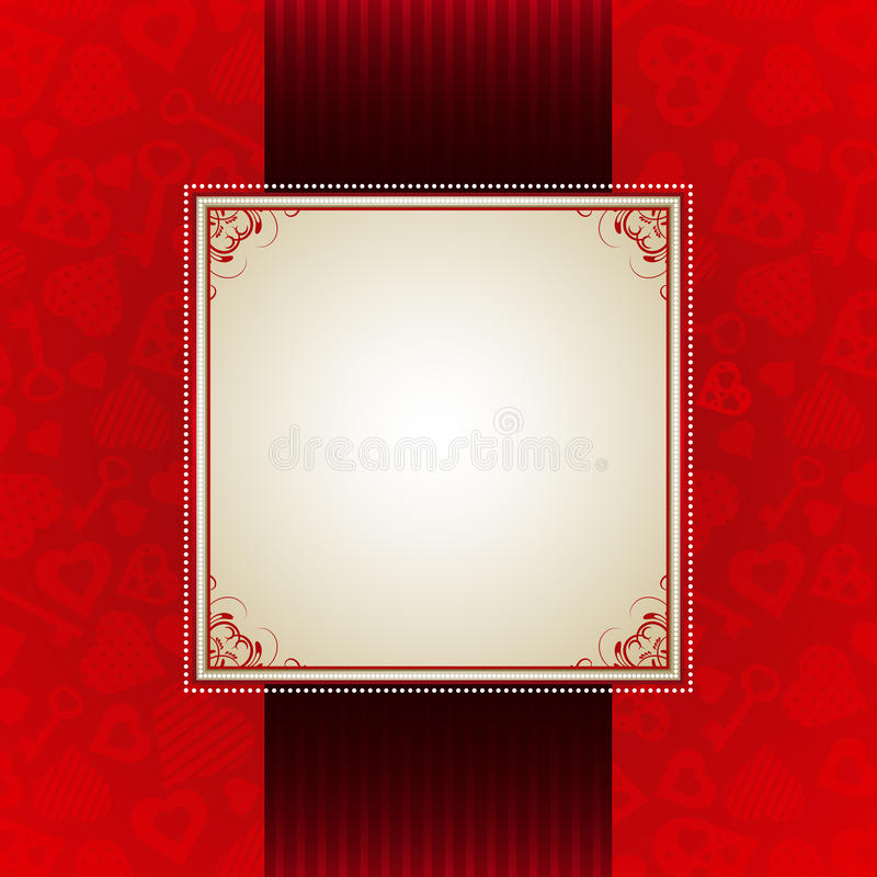 Red valentine background, royalty free stock images