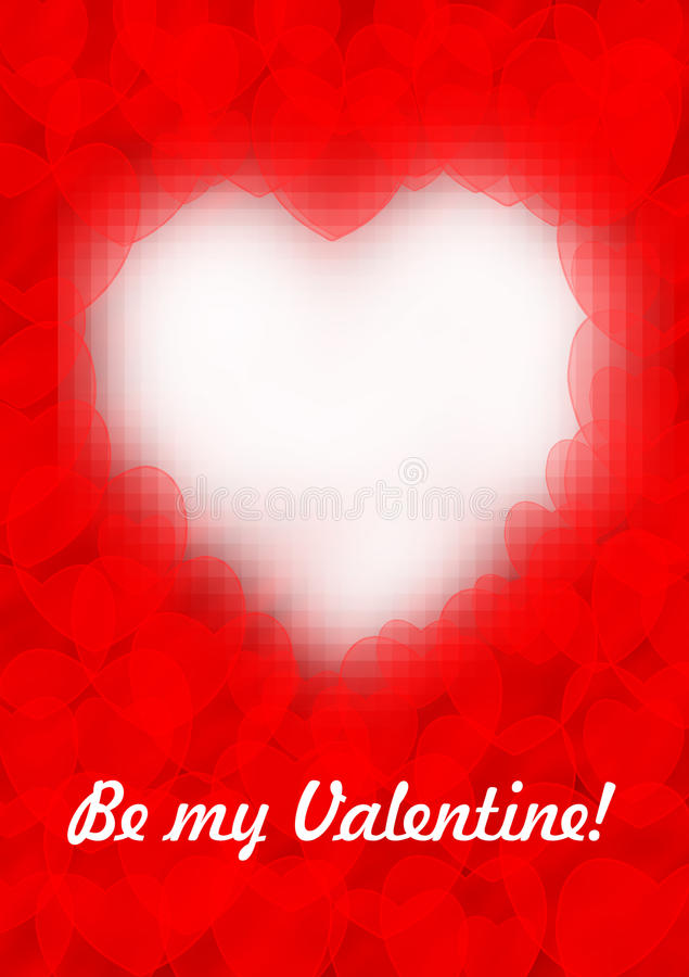 Red valentine card stock photography