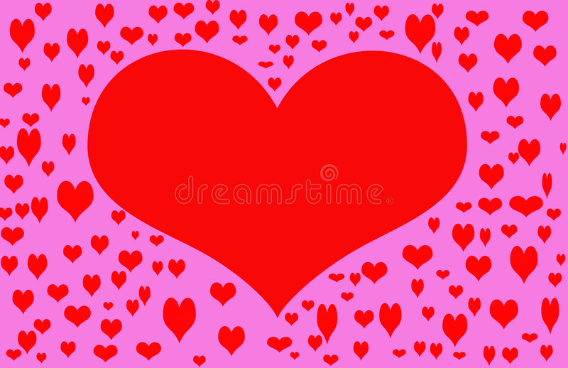 Red Valentine Heart stock photography