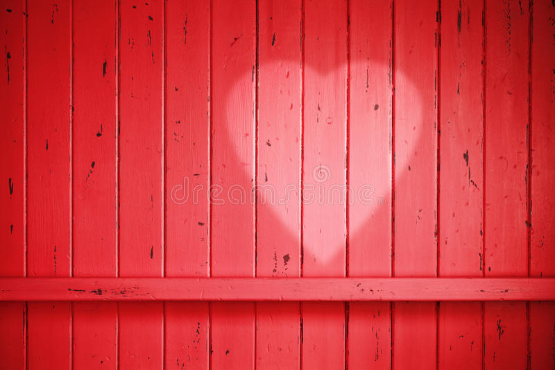 Red Love Valentine Heart Background Stock Photo