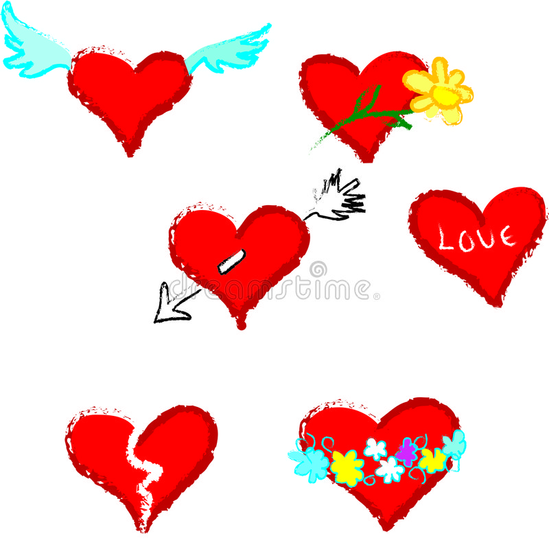 Download Red valentine hearts stock illustration. Image of background - 505456
