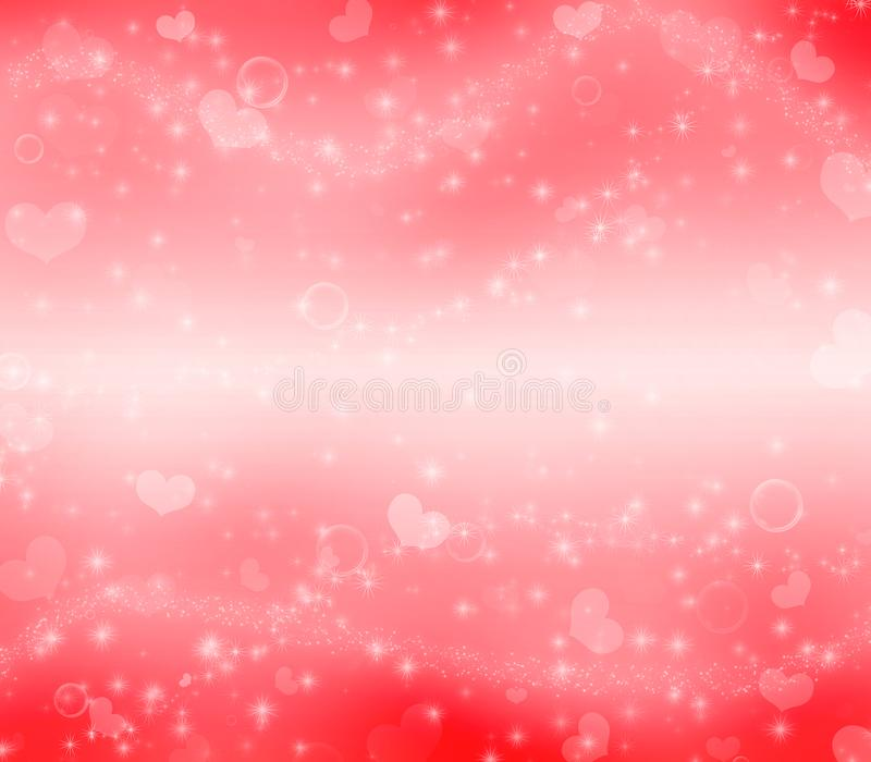 Red Valentine`s Day magic background. stock photography