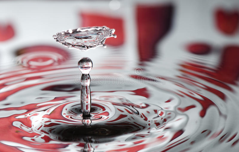 Red Valentine Water Drop Stock Photos