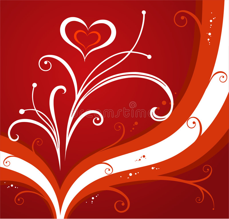 Download Red valentines background stock vector. Illustration of decorative - 466644