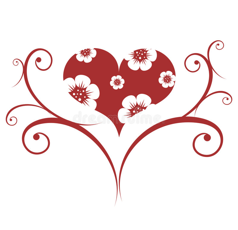Red valentines ornament royalty free illustration