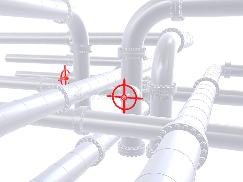 Red valve stock illustration