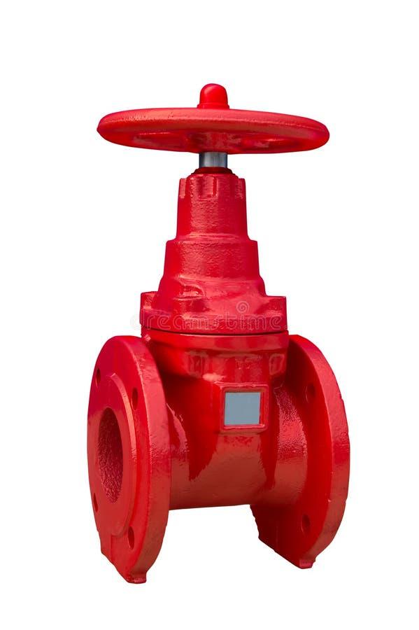 Red valve stock photo