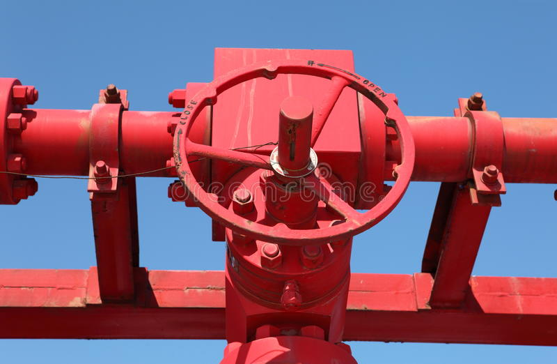 Download Red valves stock photo. Image of manifold, joint, elevated - 24904924