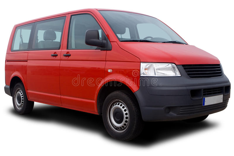 Red Van stock image