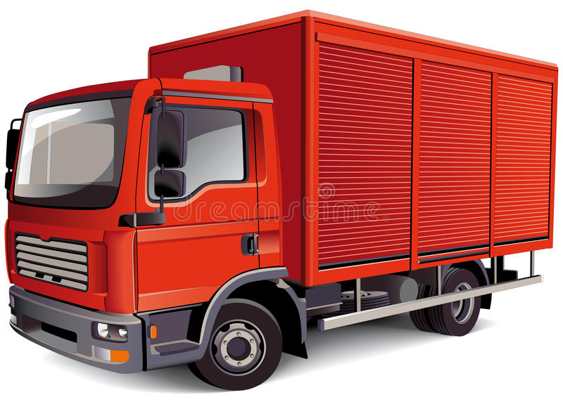 Download Red Van stock vector. Image of traffic, waggon, lorry - 15576642