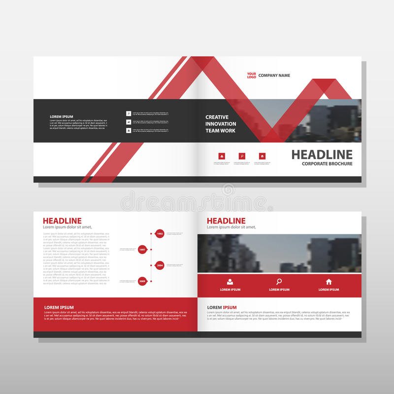 Red Vector annual report Leaflet Brochure Flyer template design, book cover layout design, abstract business presentation template. A4 size design vector illustration