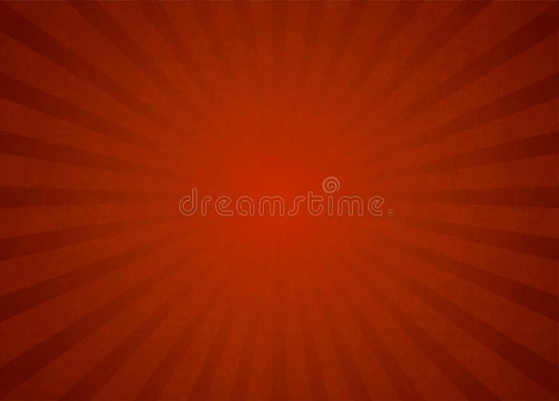 Red Vector Light Rays Background stock illustration