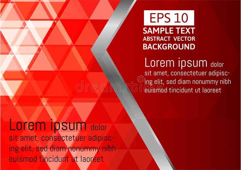 Red vector of modern abstract triangle background. geometric modern template for business or technology presentation vector illustration