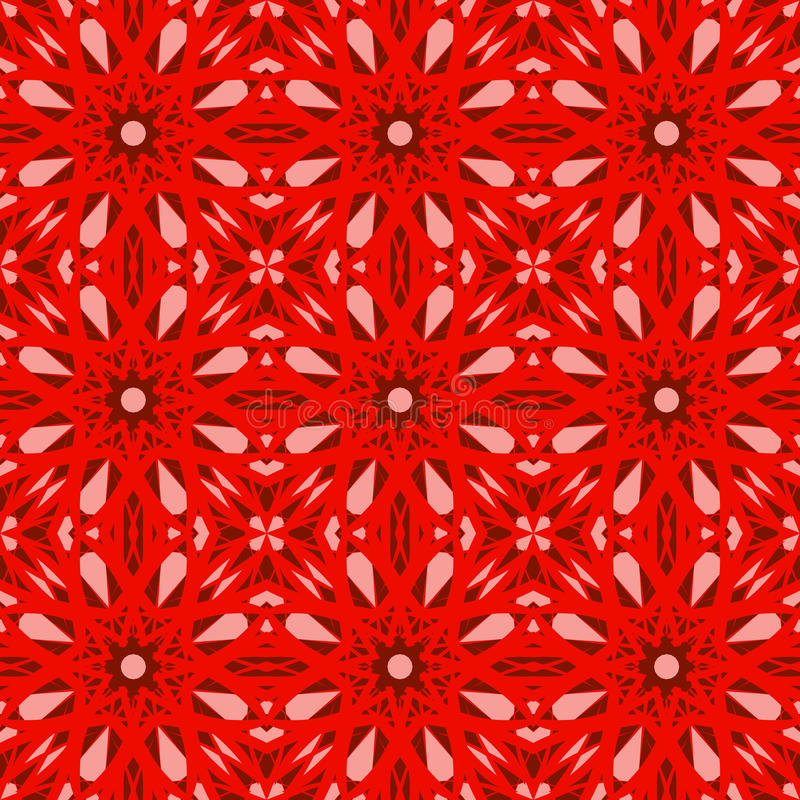 Red vector seamless patterns, tiling. Geometric ornaments. royalty free stock photo