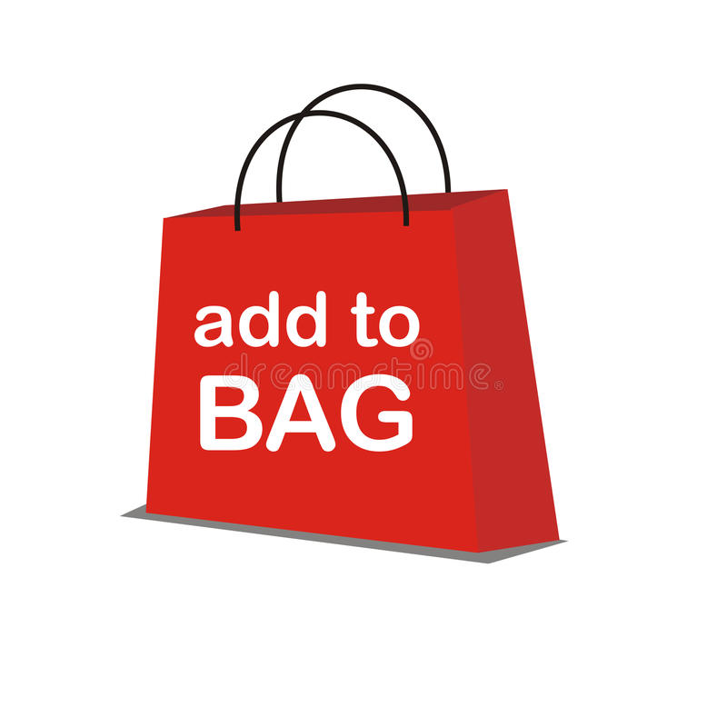 Download Red Vector Shopping Bag Stock Photo - Image: 10697850