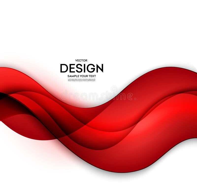 Red vector Template Abstract background with curves lines. For flyer, brochure, booklet and websites design vector illustration