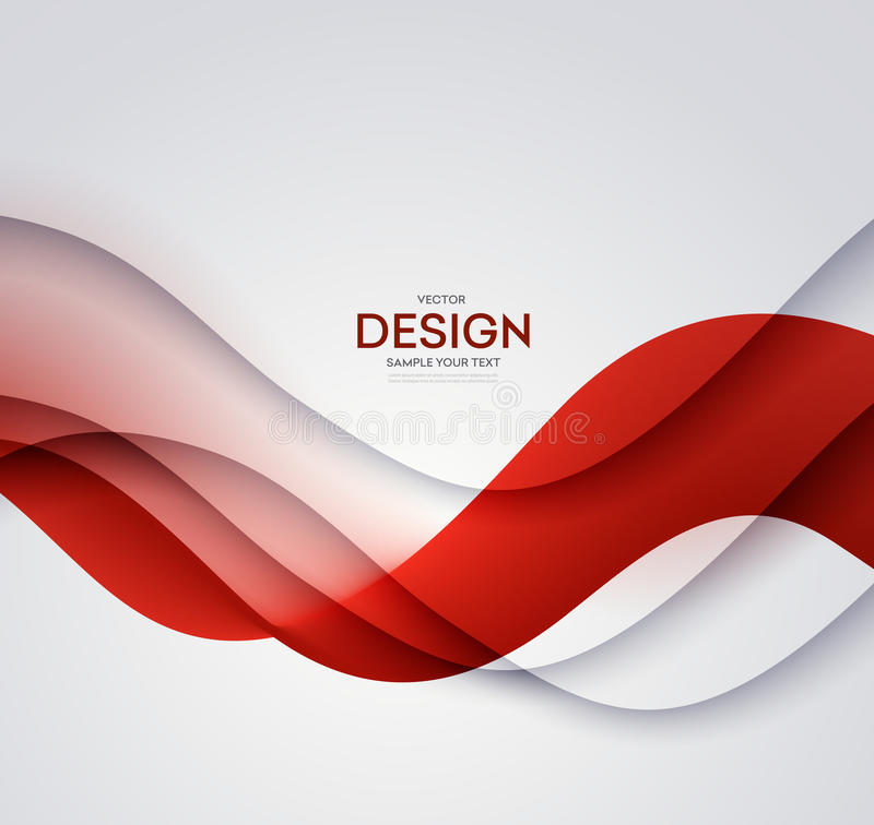Red vector Template Abstract background with curves lines and shadow. For flyer, brochure, booklet design royalty free illustration
