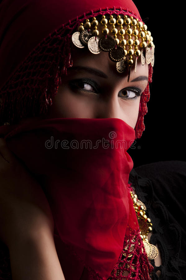 Download The red veil stock photo. Image of beauty, adult, caucasian - 11883198