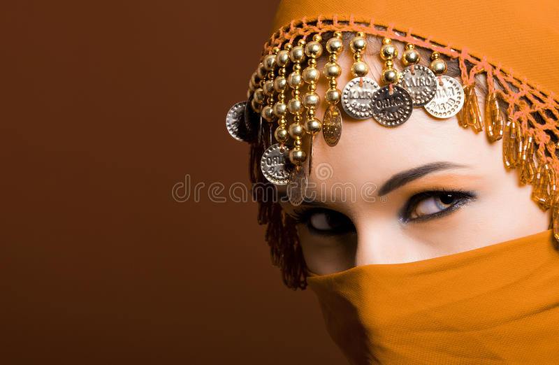The red veil stock photos