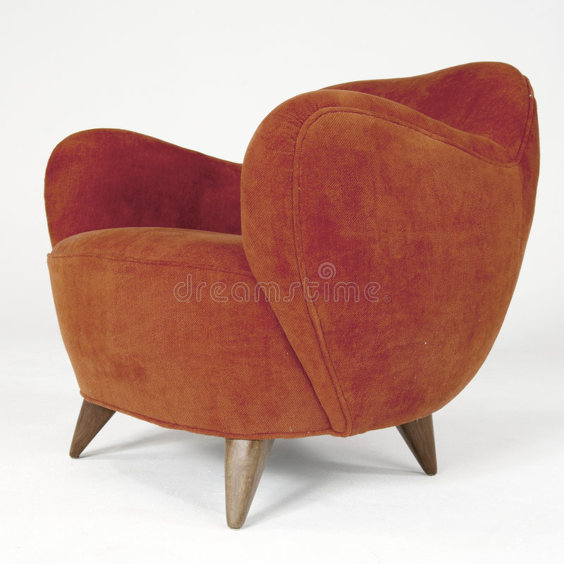 Download Red Velour Modern Arm Chair Editorial Stock Photo - Image: 8115028
