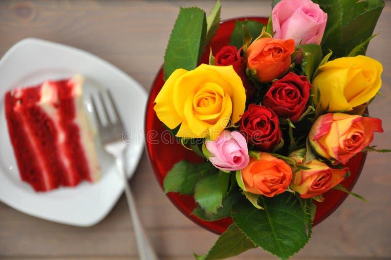Download Red velvet cake stock photo. Image of copy, filling, flowers - 29017552