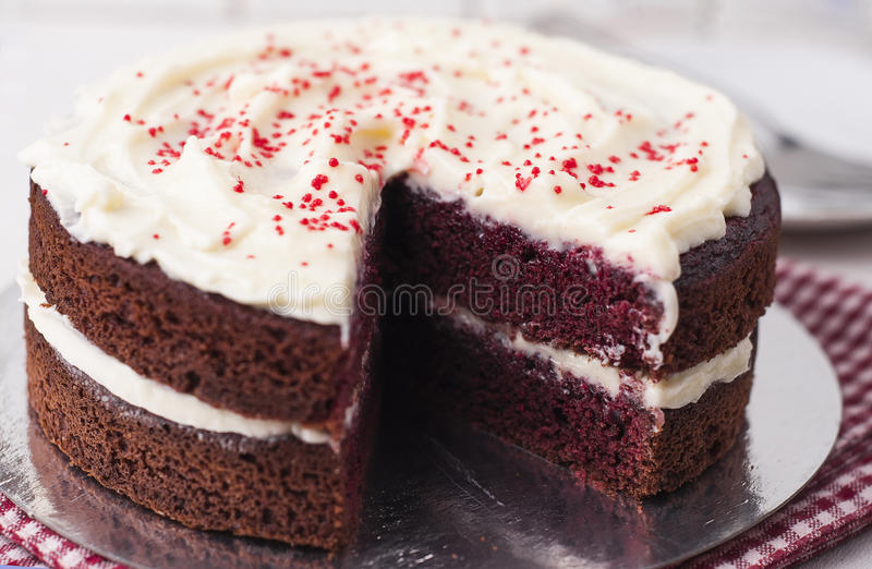 Download Red velvet cake stock image. Image of cook, birthday - 29498317