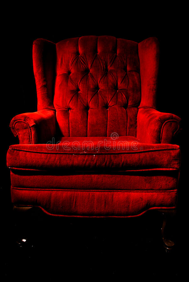 Download Red velvet chair stock image. Image of chair, black, classic - 16409983