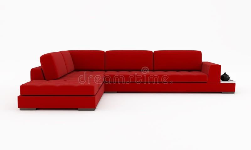 Red velvet couch stock illustration