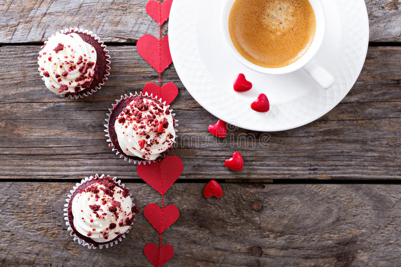 Download Red Velvet Cupcakes For Valentines Day Stock Photo - Image: 83724714