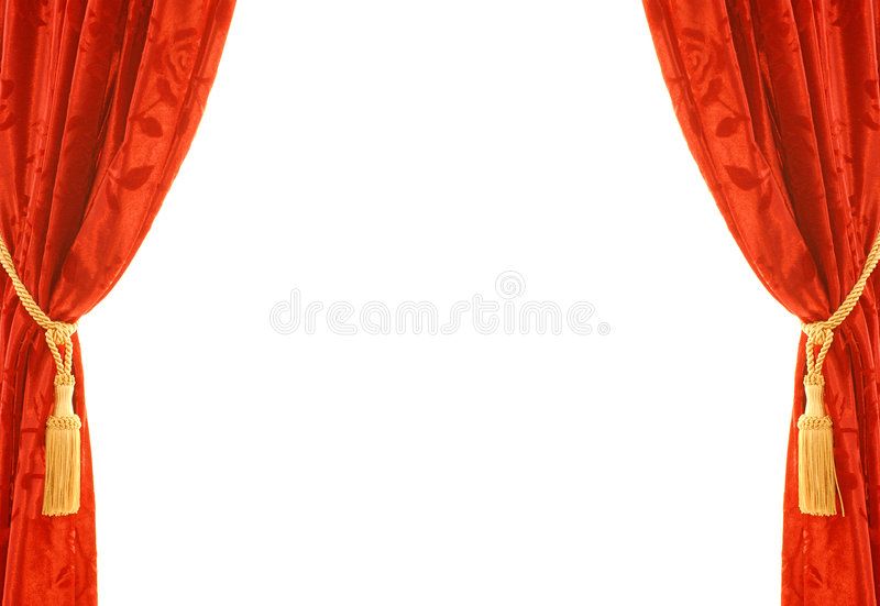 Red velvet curtain royalty free stock images