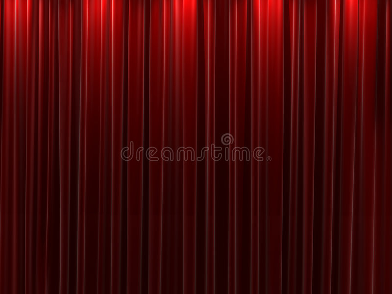 Download Red Velvet Curtains Background Stock Illustration