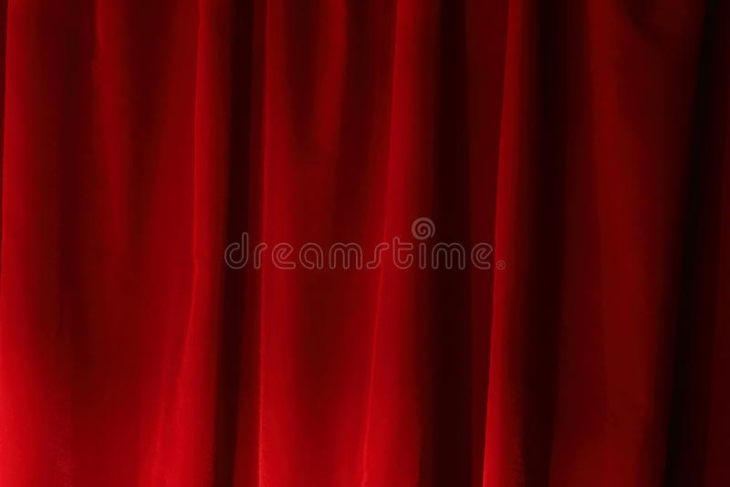Red Velvet Drapes royalty free stock photo