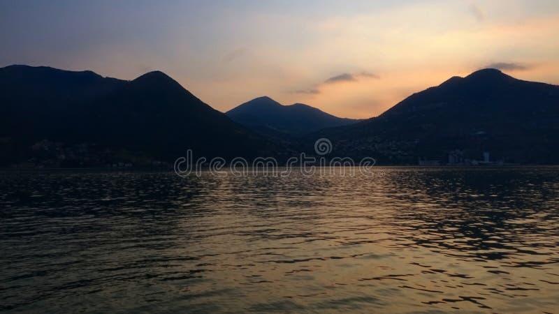 Red Velvet Floating Sunset royalty free stock images